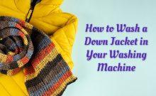 can you machine wash a down jacket